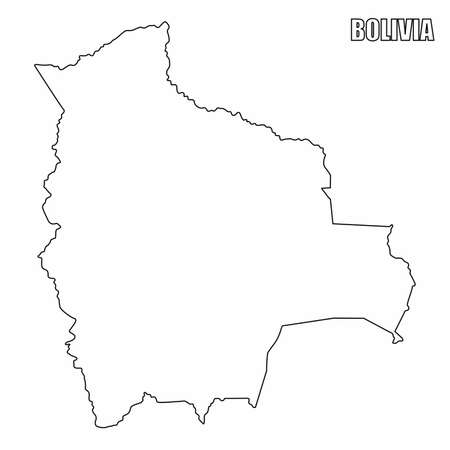 The Bolivia outline map isolated on white background  イラスト・ベクター素材