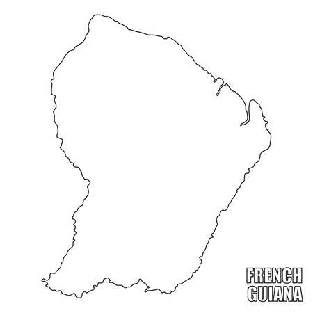 The French Guiana outline map isolated on white background  イラスト・ベクター素材