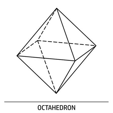An Octahedron outline icon on white background