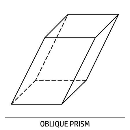 Oblique Prism outline icon