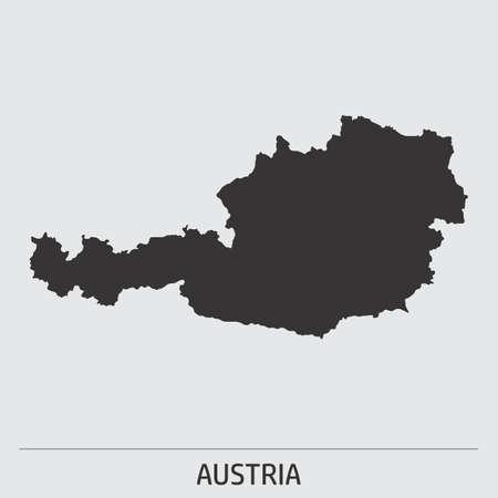 Austria map icon Stock Illustratie