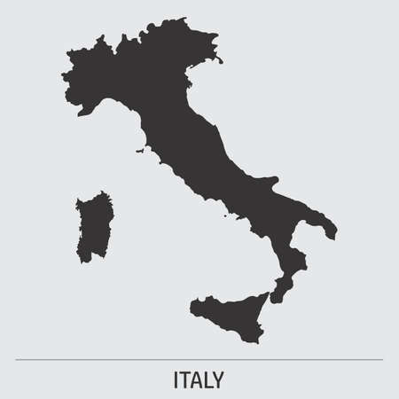 Italy map icon