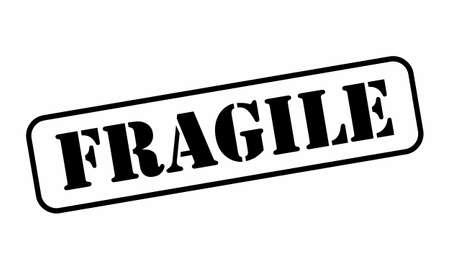 Fragile stamp illustration