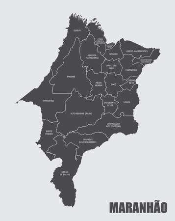 Maranhao State regions map