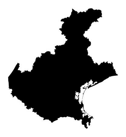 Veneto region map 向量圖像