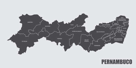 Pernambuco State regions map