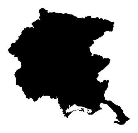 Friuli-Venezia Giulia region map