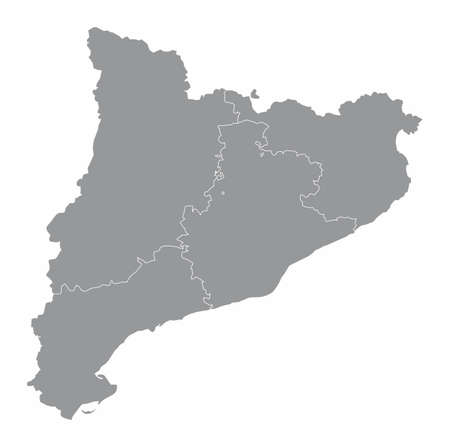Catalonia region map