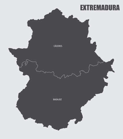 Extremadura region map