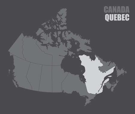 Canada Quebec map