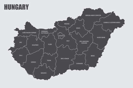 Hungary counties map