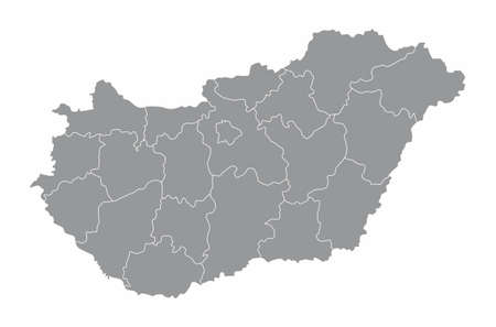 Hungary counties map