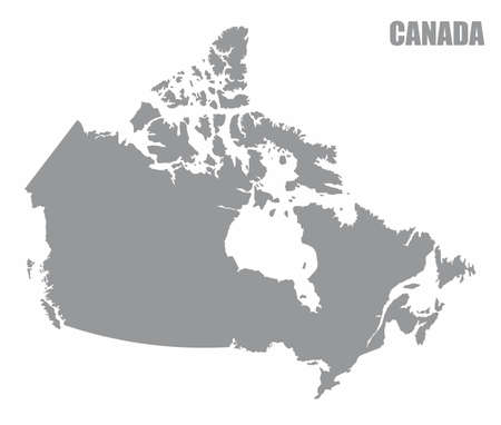 Canada silhouette map