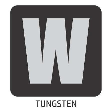 Tungsten Symbol Illustration Icon Иллюстрация