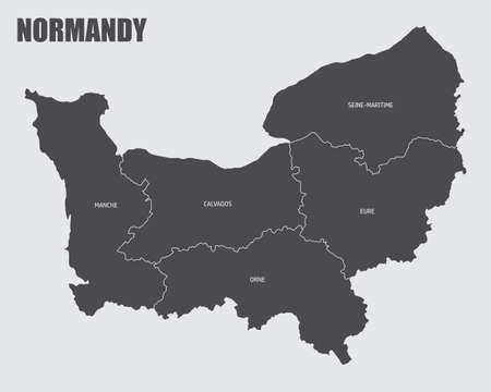 Normandy region map