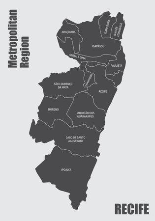 Recife metropolitan region map