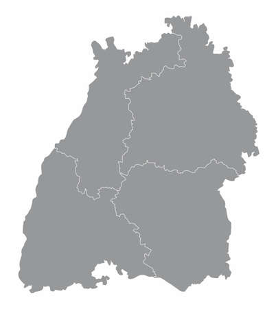 Baden-Wurttemberg state map