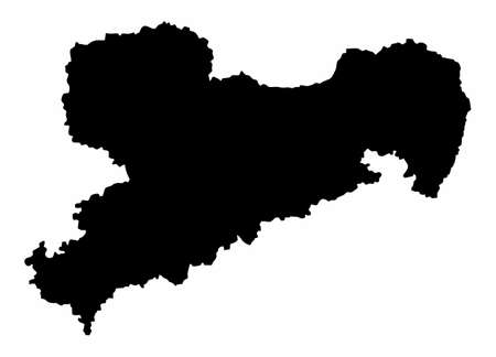 Saxony State silhouette map
