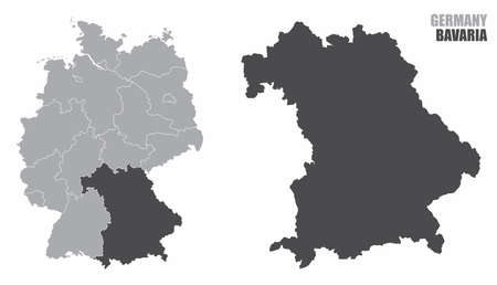 Germany silhouette map