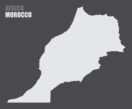 Morocco silhouette map
