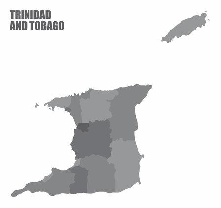 Trinidad and Tobago states map