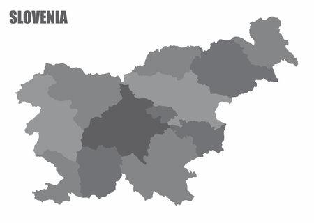 Slovenia administrative map