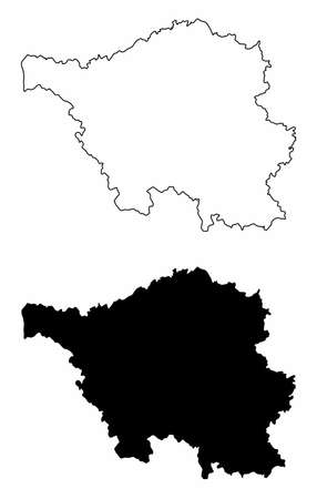Saarland silhouette maps