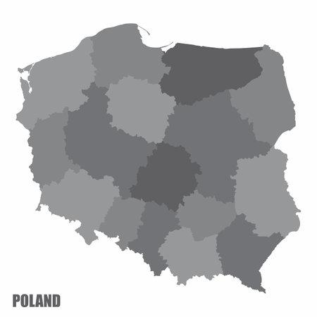 Poland administrative map