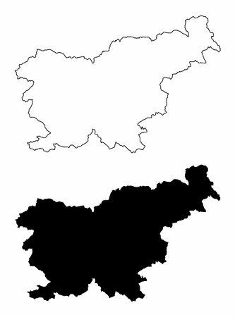Slovenia silhouette maps