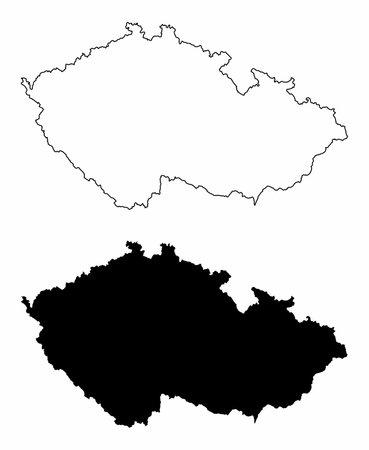 Czech Republic silhouette maps