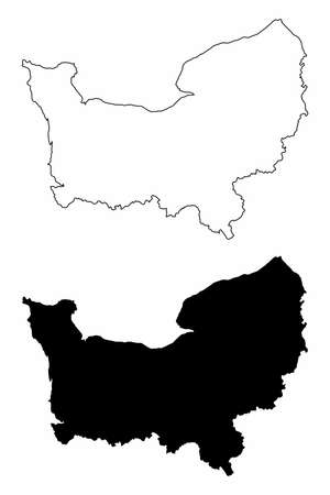 Normandy silhouette maps