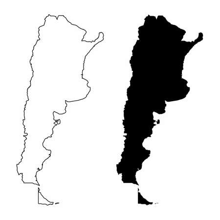 Argentina silhouette maps