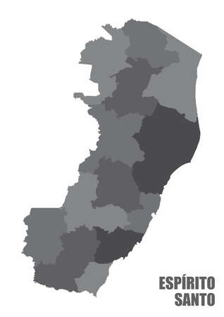 Espirito Santo regions map