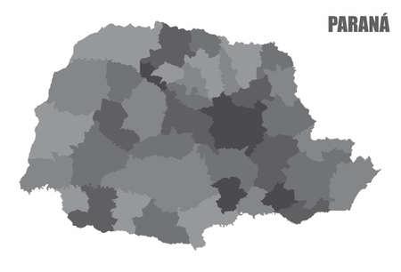 Parana regions map