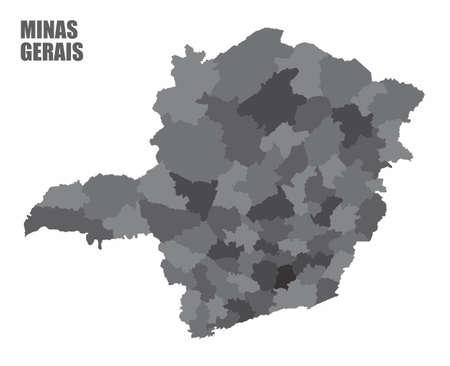 Minas Gerais regions map