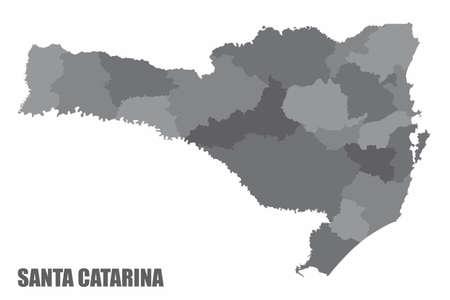 Santa Catarina regions map