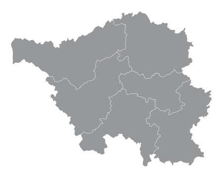 Saarland districts map Ilustração