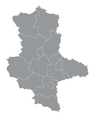 Saxony-Anhalt districts map
