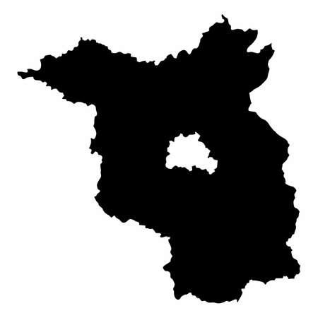 Brandenburg silhouette map