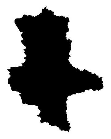 Saxony-Anhalt silhouette map Ilustração