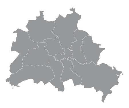 Berlin administrative map Ilustração