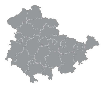 Thuringia districts map