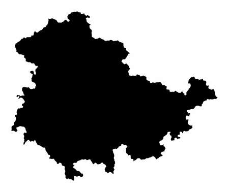 Thuringia silhouette map