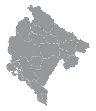 Montenegro divisions map