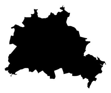 Berlin silhouette map Ilustração