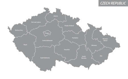 Czech Republic isolated map