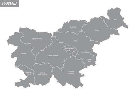 Slovenia isolated map Ilustração
