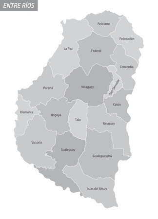 Entre Rios province grayscale map
