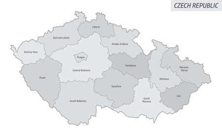 Czech Republic grayscale map