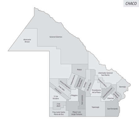 Chaco province grayscale map
